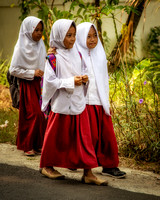 Schoolgirl BFFs (Java, Indonesia)