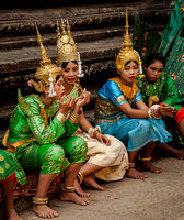Temple Dancers on Break (Cambodia)