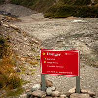Danger Below the Glacier (New Zealand)