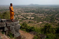 Buddhist  Monk Overlooking Countryside (Cambodia)