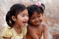 Two Girls Laughing (Cambodia)