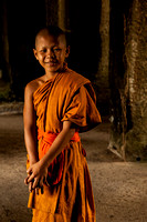 Young Monk Inside Temple (Cambodia)