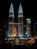 Petronas Towers at Night (Malaysia)