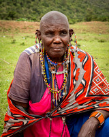 Maasai Woman with Earrings (Kenya)