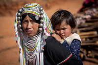 Akha Tribe Woman with Child (Myanmar)