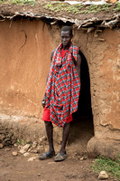 Maasai Man in Front of Home (Kenya)