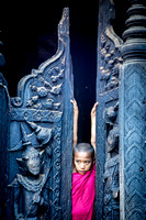 Young Monk in Doorway (Myanmar)